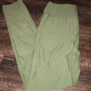 LuLaRoe OS  olive green leggings